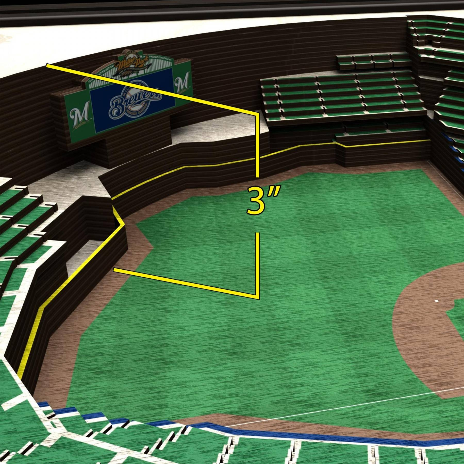 Milwaukee Brewers Stadiumview Wall Art – Miller Park 3 D Within Best And Newest Baseball 3D Wall Art (View 15 of 20)