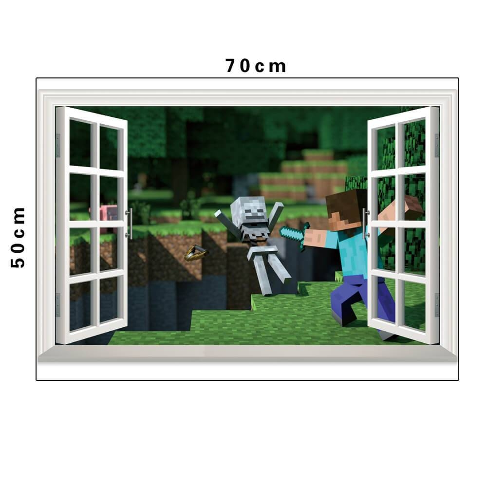 Minecraft Wall Stickers | 3d Wall Decals Ireland | Boys Room Throughout Most Up To Date Minecraft 3d Wall Art (View 2 of 20)