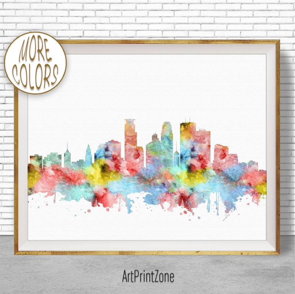 Minneapolis Art Minneapolis Skyline Minneapolis Print Minneapolis Regarding Most Recent Minneapolis Wall Art (View 1 of 20)