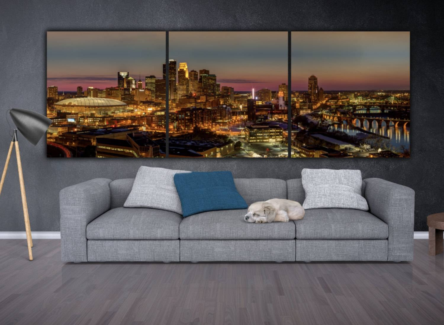 Minneapolis Skyline On Canvas Large Wall Art Minneapolis With Regard To Most Recent Minneapolis Wall Art (View 1 of 20)