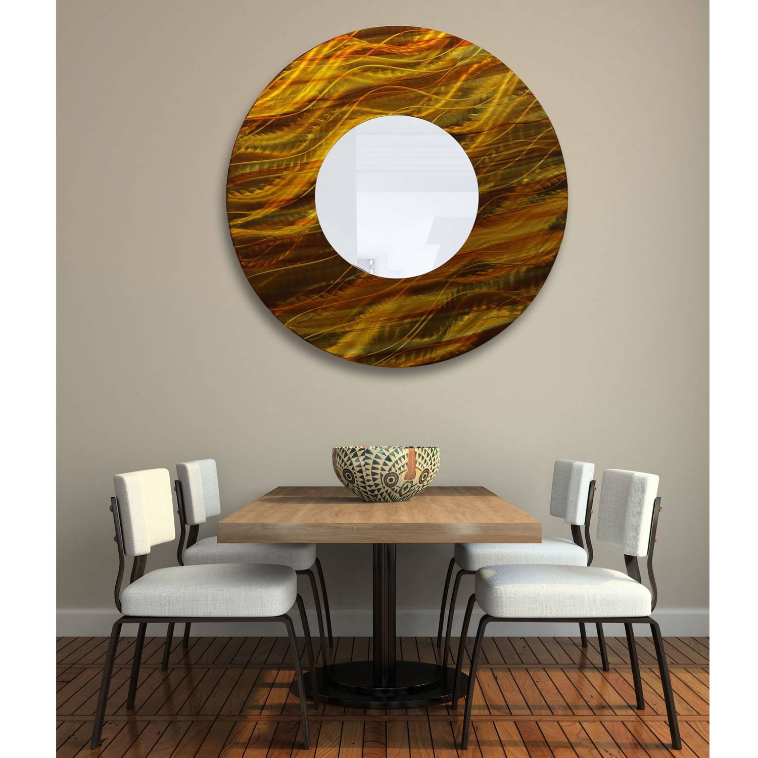 Mirror 115 – Gold And Amber Abstract Metal Wall Art Mirror Accent With Newest Abstract Mirror Wall Art (View 7 of 15)