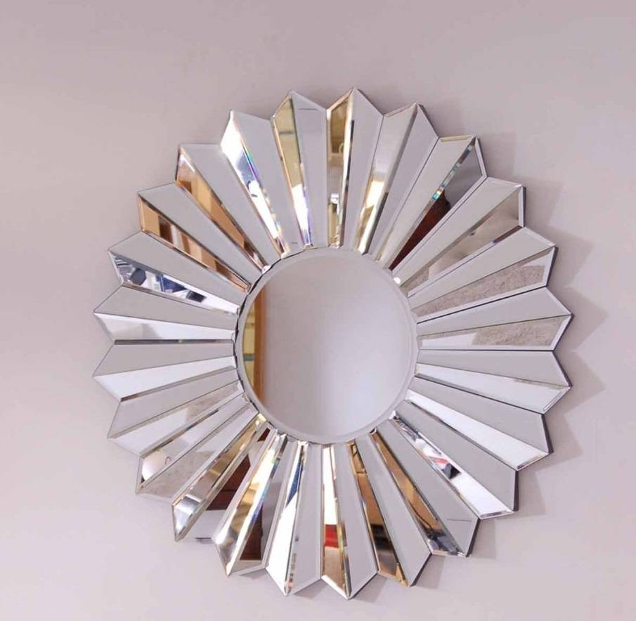 Mirror : Large Round Metal Mirror Striking Large Round Black Metal Within Current Mirror Circles Wall Art (View 10 of 20)