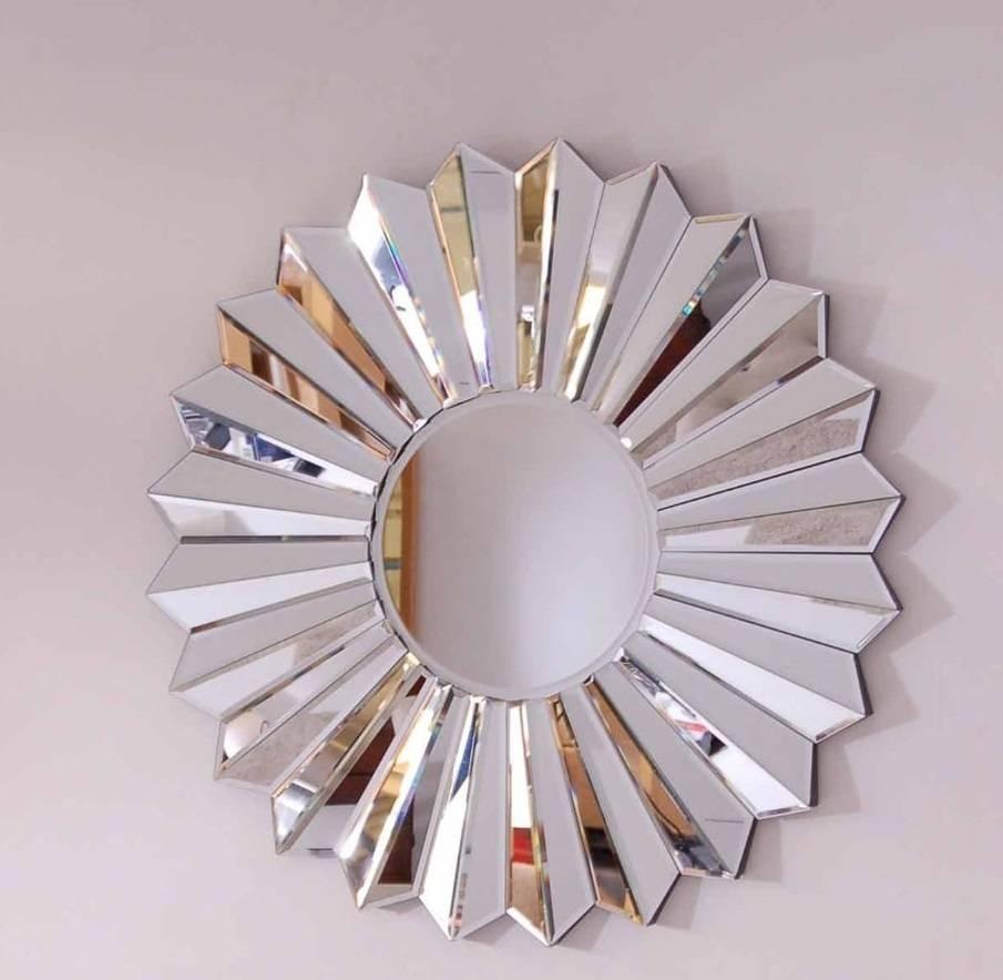 Mirror : Large Round Metal Mirror Striking Large Round Black Metal Within Current Mirror Circles Wall Art (View 6 of 20)