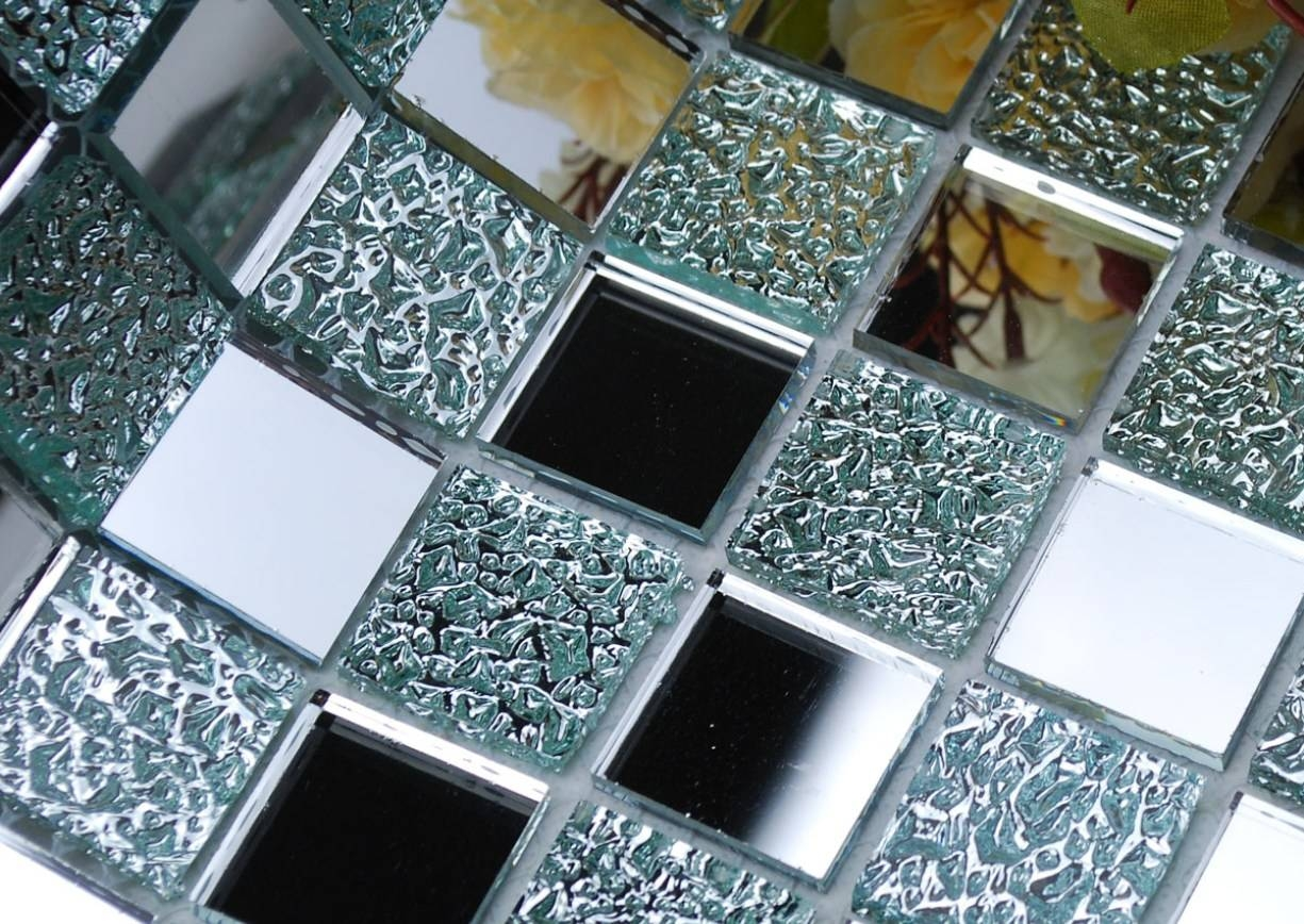 Mirror : Mirror Wall Art Amazing Large Mosaic Mirrors Champagne For Most Recently Released Mosaic Wall Art Kits (View 15 of 20)