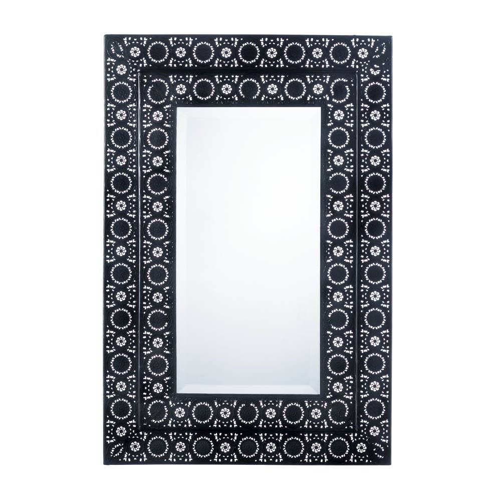 Mirrors For Wall Decor, Living Room Wall Mirror Black Moroccan Intended For Most Popular Mirrored Frame Wall Art (View 13 of 20)