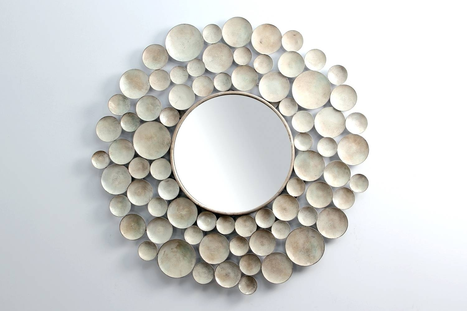 Mirrors : Modern Mirror Round Silver Mirror Wall Art Mirror With Regard To Most Current Mirror Circles Wall Art (View 16 of 20)