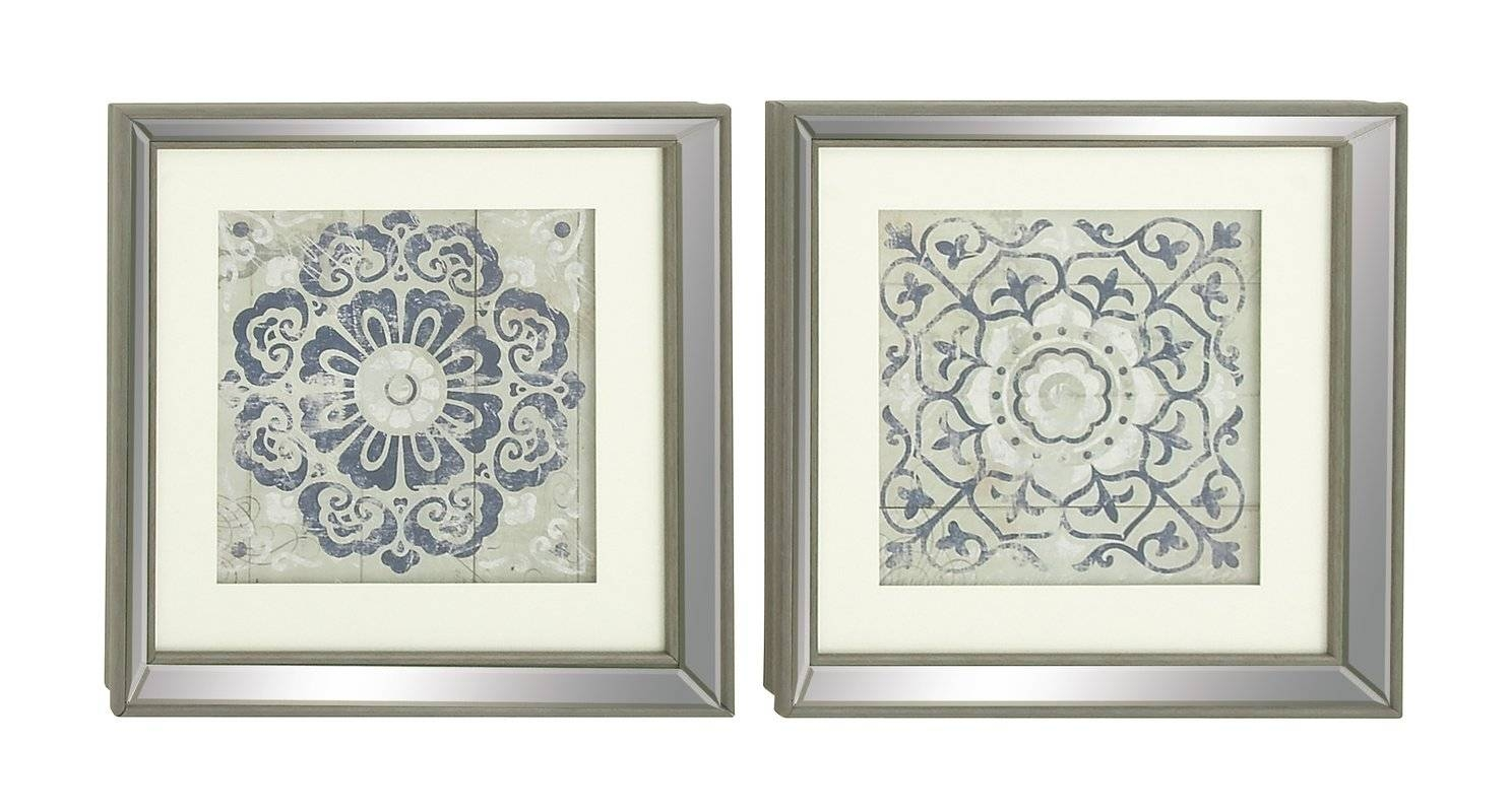 Mistana 2 Piece Polystone Mirror Framed Wall Art Set & Reviews Within Recent Mirrored Frame Wall Art (View 14 of 20)