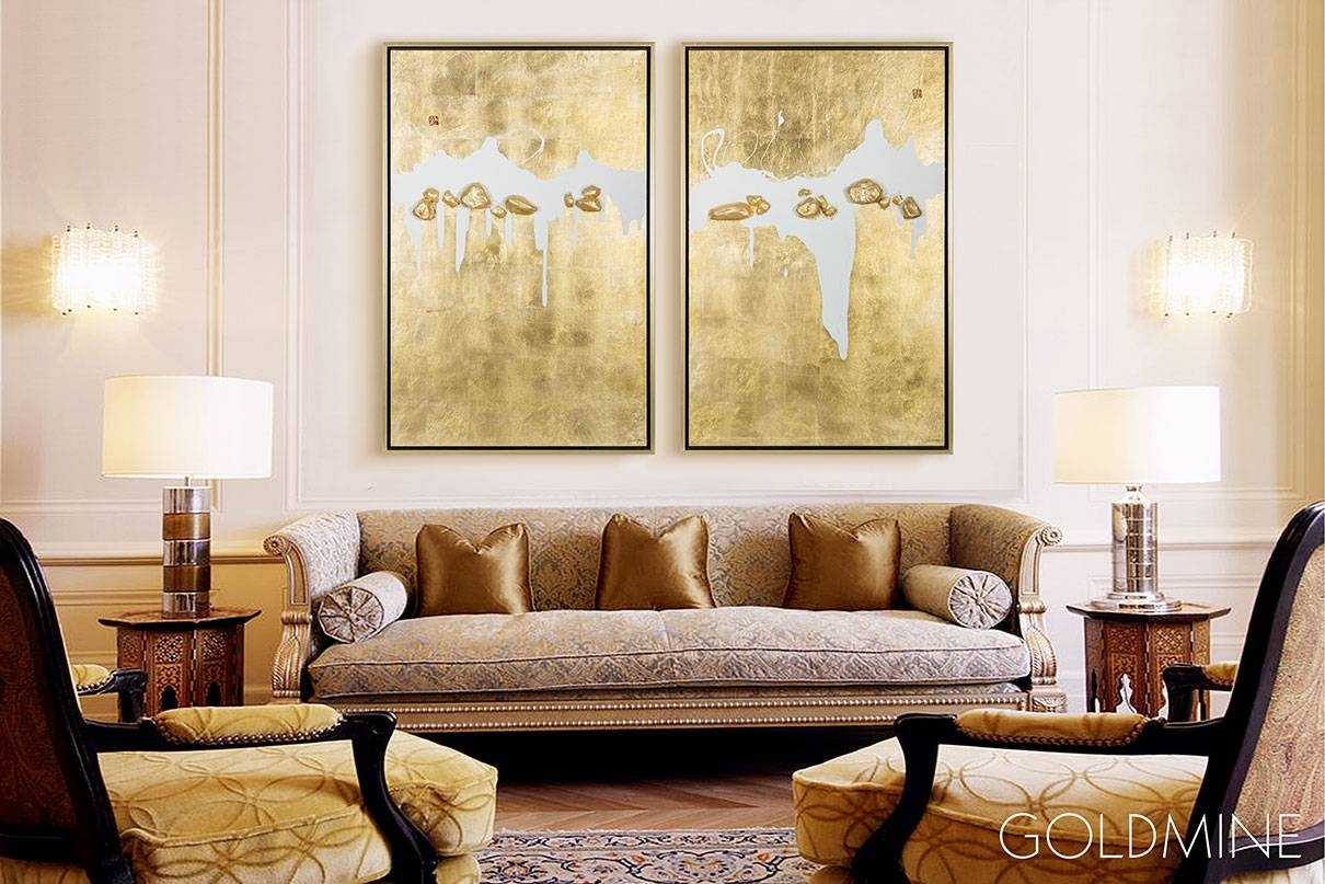 Mixed Media Wall Art | Abstract Oil Painting – Goldmine Within Latest Media Room Wall Art (View 18 of 20)