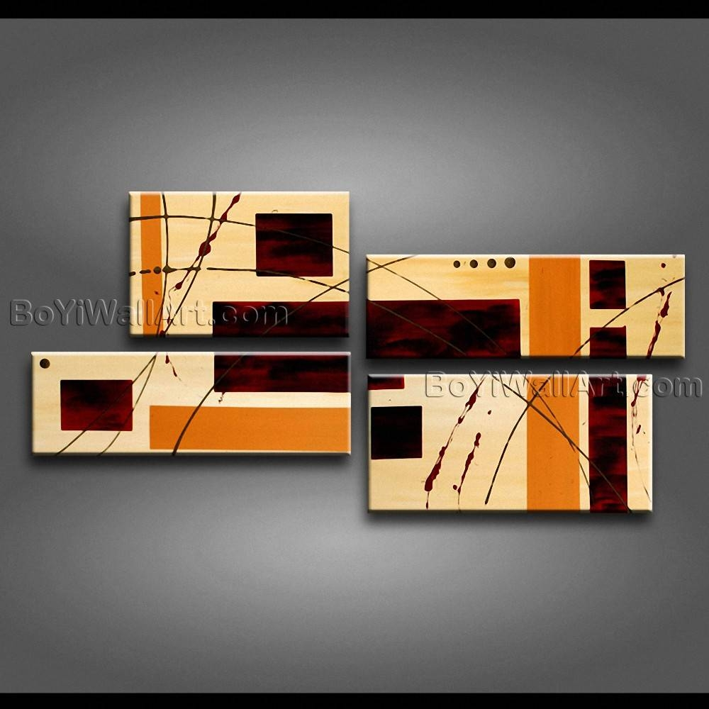 Modern Abstract Painting On Canvas Gallery Wrapped Wall Art Hand For Best And Newest Large Modern Wall Art (View 8 of 20)