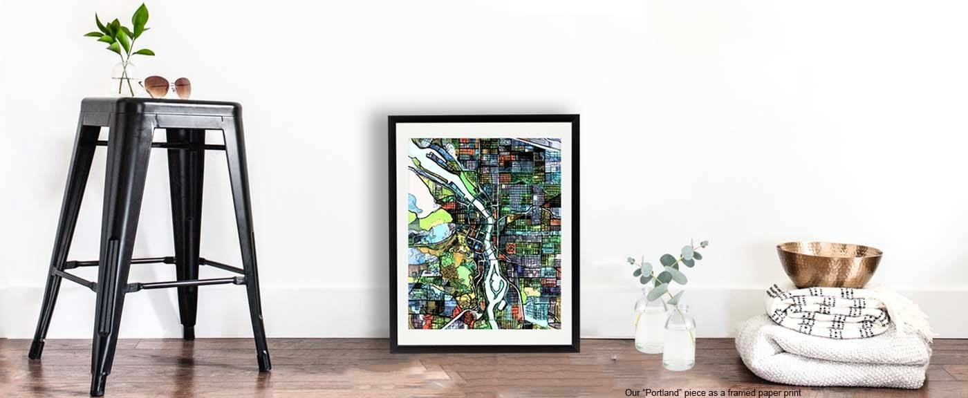 Modern Art Prints | Digitally Merged Illustrations And Paintings With Regard To Best And Newest Cycling Wall Art (View 17 of 25)
