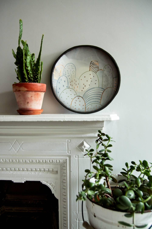 Modern Ceramic Wall Art Large Black Plate Abstract Pattern With Latest Large Ceramic Wall Art (View 5 of 25)