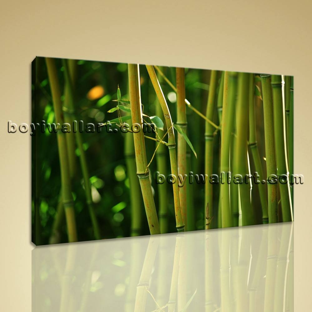 Modern Contemporary Feng Shui Wall Art Hd Print On Canvas Bamboo For Latest Feng Shui Wall Art (View 7 of 20)