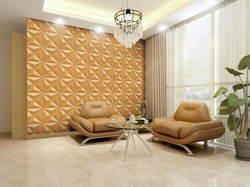 Modern Living Room Decoration Feature Geometric Pattern Wall Art With Newest Unique 3d Wall Art (View 18 of 20)