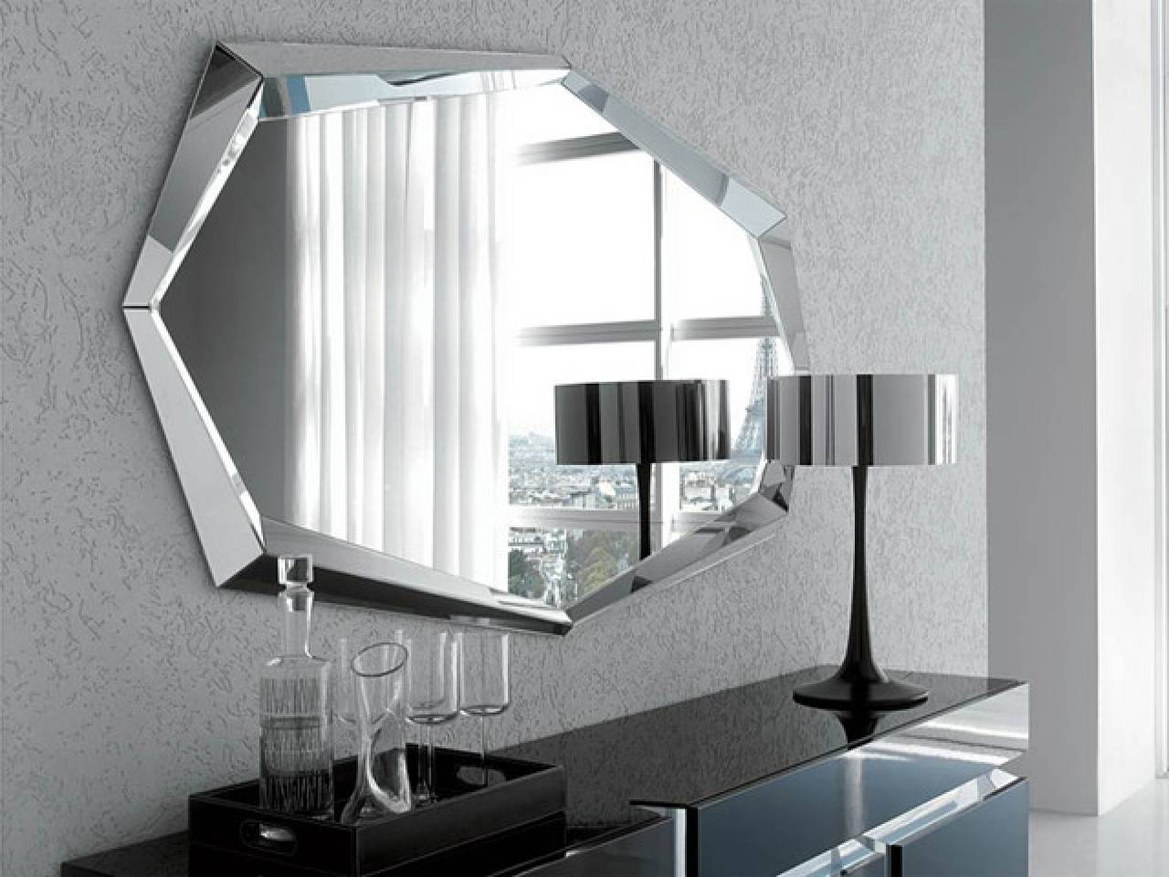Modern Makeup Mirror Modern Makeup Mirrors Modern Countertop In For Best And Newest Wall Art Mirrors Contemporary (View 3 of 20)