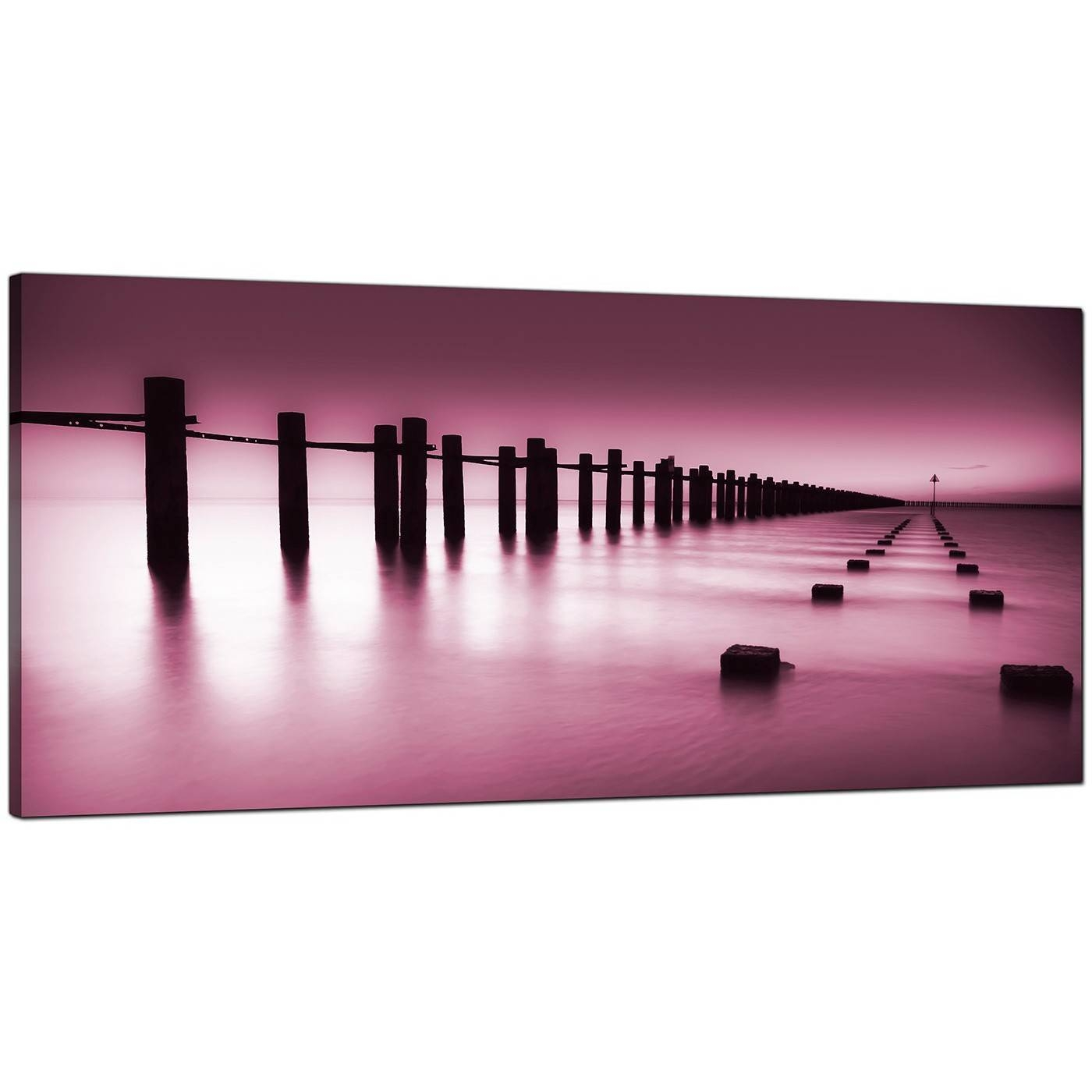 Modern Plum Canvas Wall Art Of The Sea For Newest Plum Coloured Wall Art (View 17 of 20)