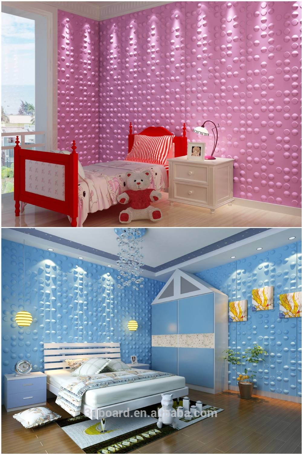 Modern Wall Art Decor Interior 3d Effect Wall Panels For Home For Most Recent 3d Wall Art And Interiors (View 11 of 20)