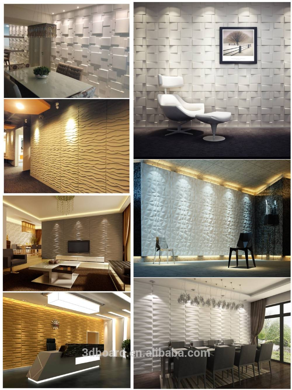 Modern Wall Art Decor Interior 3D Effect Wall Panels For Home Within Newest 3D Wall Art And Interiors (View 15 of 20)