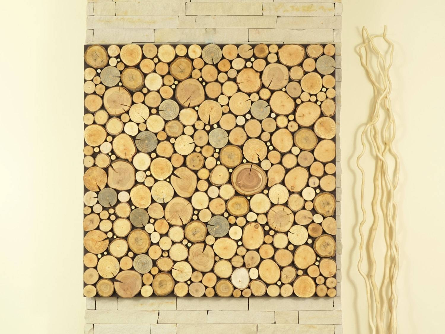 Modern Wall Art, Tree Slices Wall Panel, Sliced Wood Art, Wooden Regarding Most Popular Wooden Wall Art Panels (View 10 of 20)