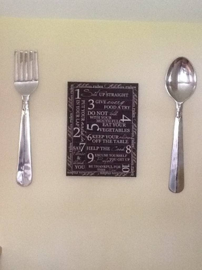 Modest Ideas Giant Fork And Spoon Wall Decor Excellent Inspiration For 2017 Giant Fork And Spoon Wall Art (View 15 of 25)