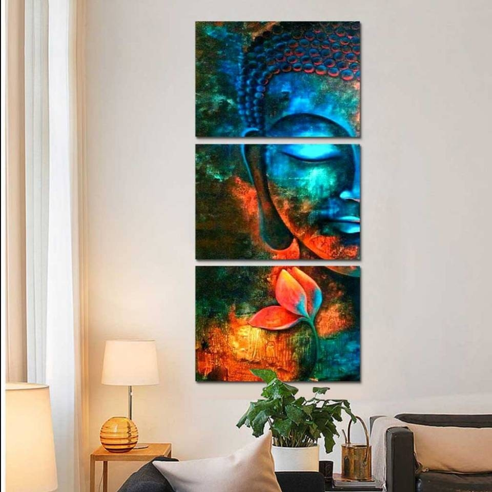 Modular Wall Art Poster Canvas Hd Prints Flower Pictures 3 Pieces Within 2018 Modular Wall Art (View 15 of 25)