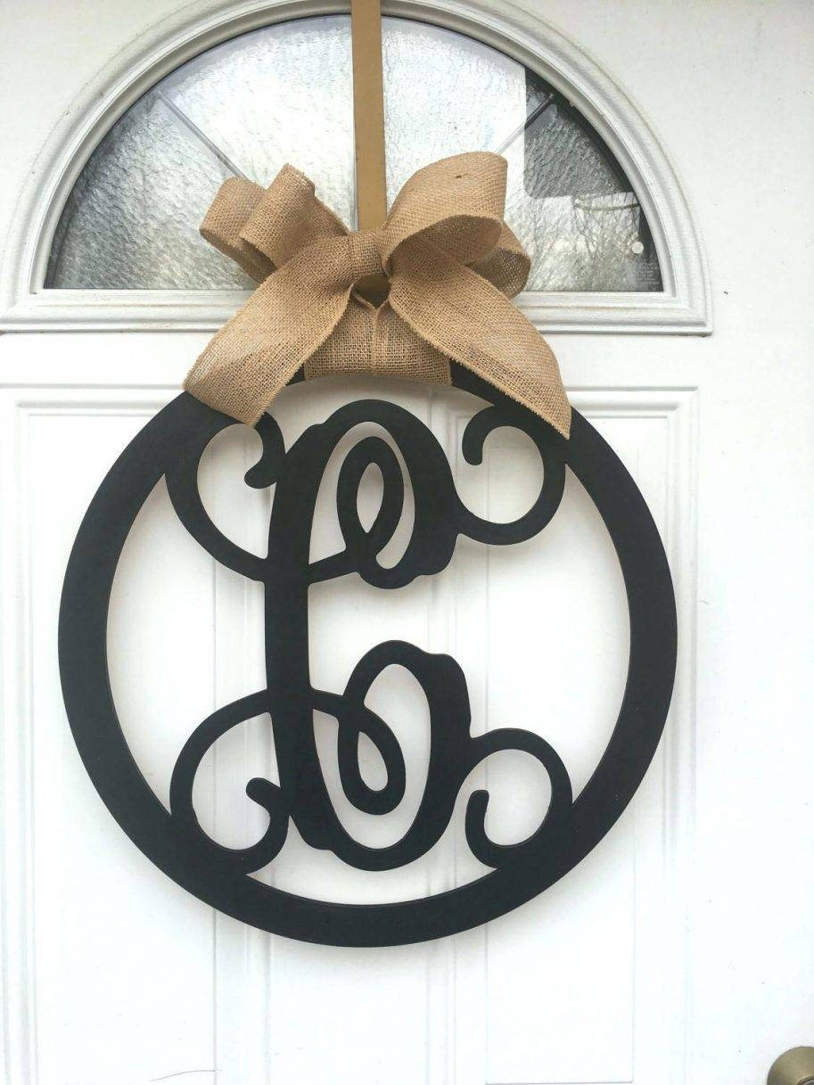 Monogram Door Hanger Wall Decor Name Groupon Art Hanging Ideas Intended For Most Up To Date Groupon Wall Art (View 8 of 20)