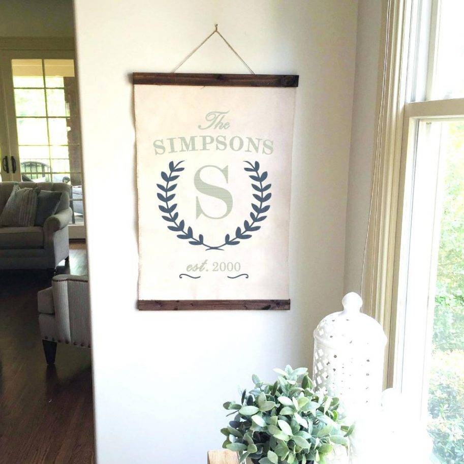 Monogram Laurel Wreath Established Wall Hanging Letters Plaque In Best And Newest Groupon Wall Art (View 9 of 20)