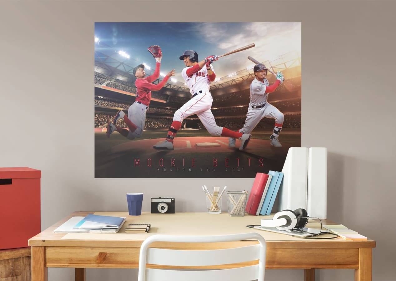 Mookie Betts Montage Mural Wall Decal | Shop Fathead® For Boston For 2017 Red Sox Wall Decals (View 17 of 30)