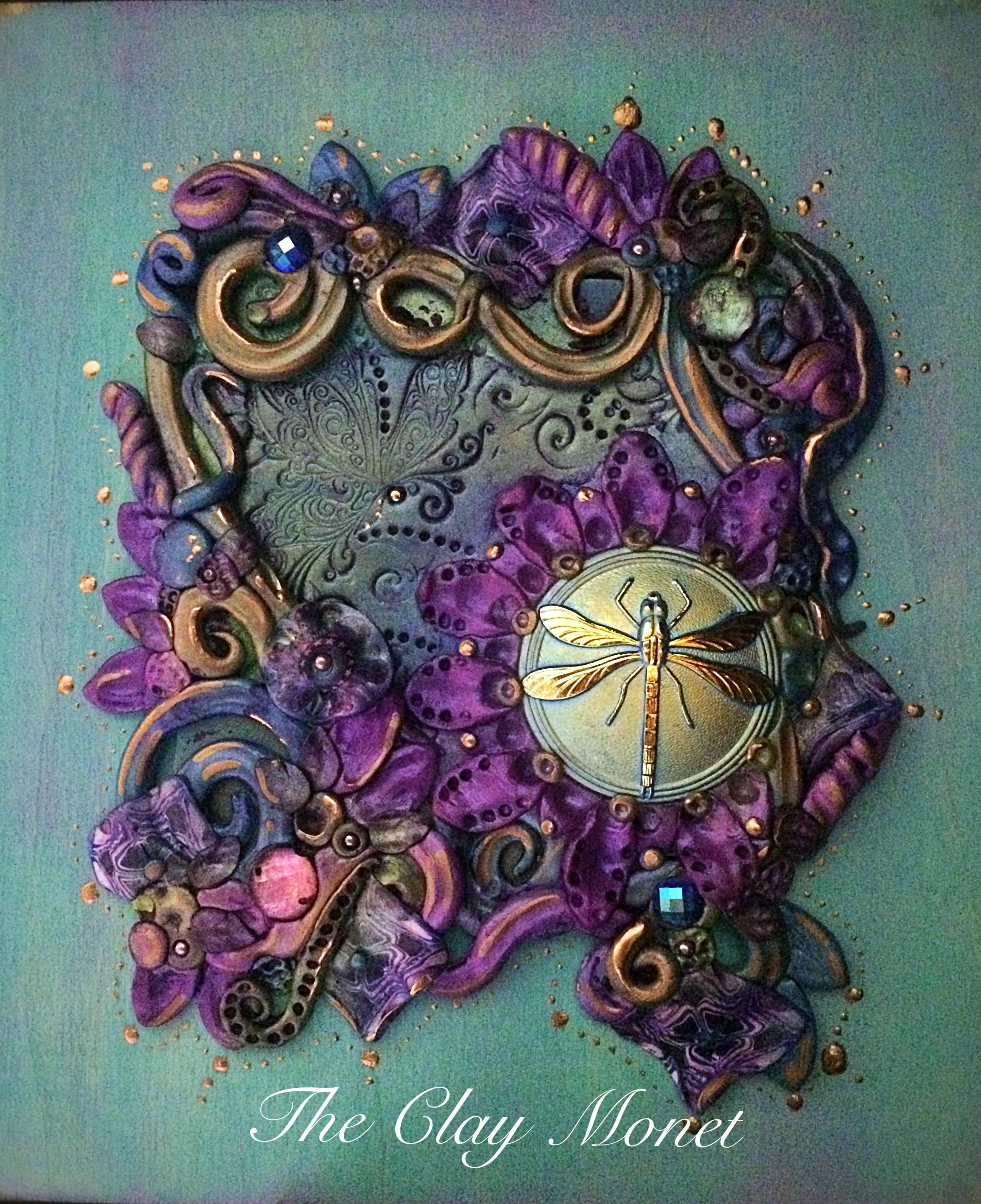 Moon Glow Enchanted Dragonfly Polymer Clay Hanging Wall Plaque Pertaining To Most Current Polymer Clay Wall Art (View 9 of 20)