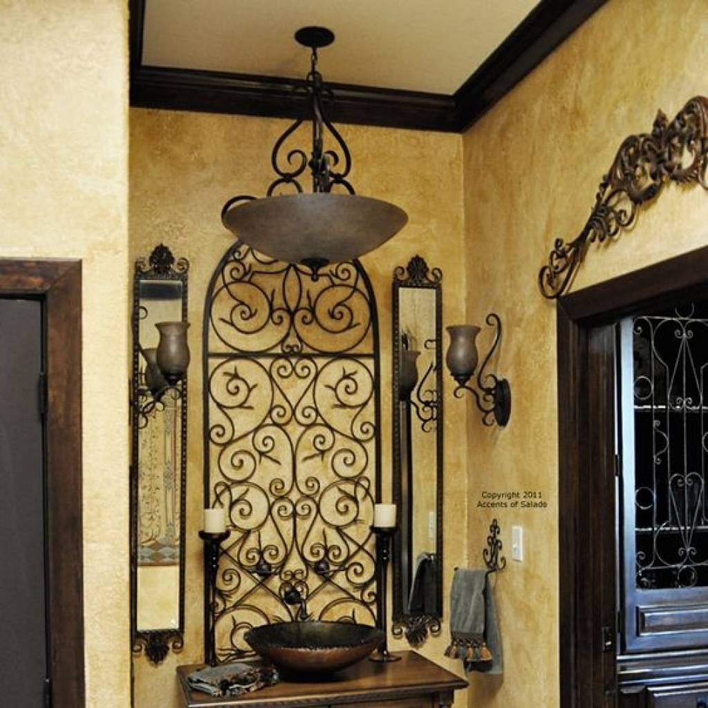 More Wrought Iron Wall Decor Mediterranean Style Inspiration With Latest Gate Art