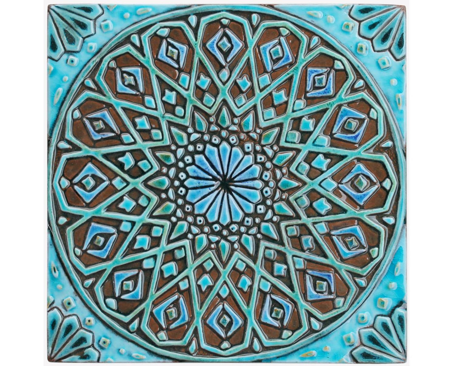 Moroccan Wall Hanging Made From Ceramic Exterior Wall Art In Recent Ceramic Tile Wall Art (View 9 of 20)