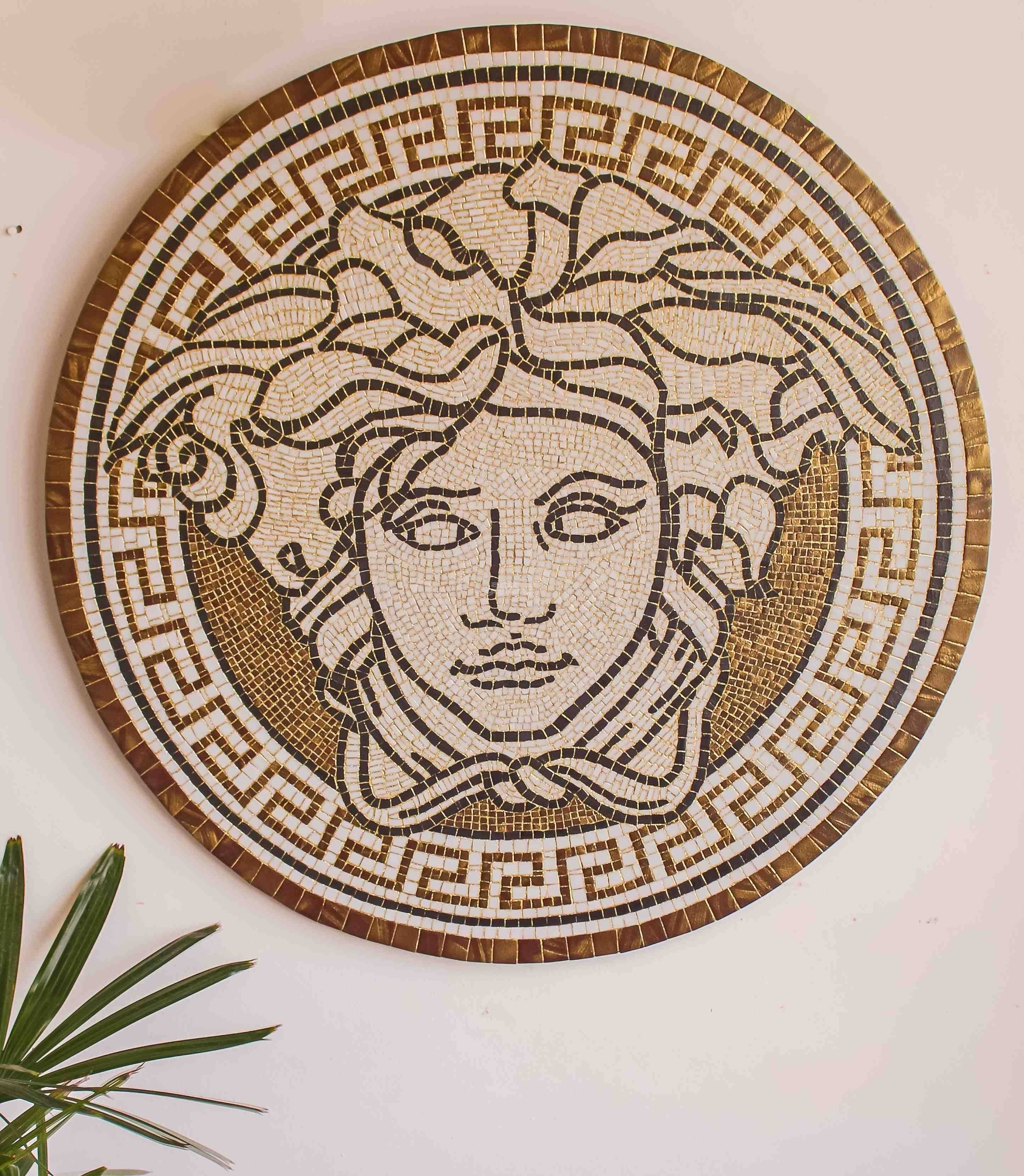 Mosaic Versace Face In Current Versace Wall Art (View 3 of 20)
