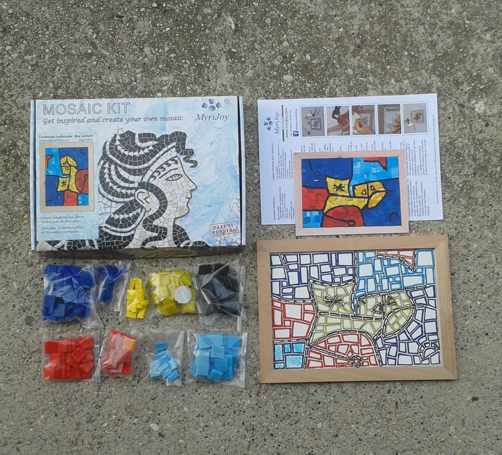 Mosaics Modern Art Gift Kit For Her – Stained Glass Mosaic Tile Inside Current Mosaic Art Kits For Adults (View 15 of 20)