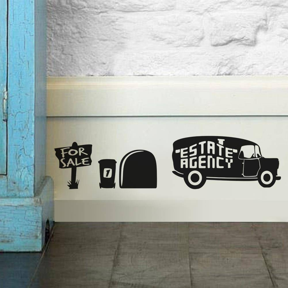 Mouse Driving The Car 3D Mouse Hole Wall Stickers For Kids Rooms For 2017 Cars 3D Wall Art (View 14 of 20)