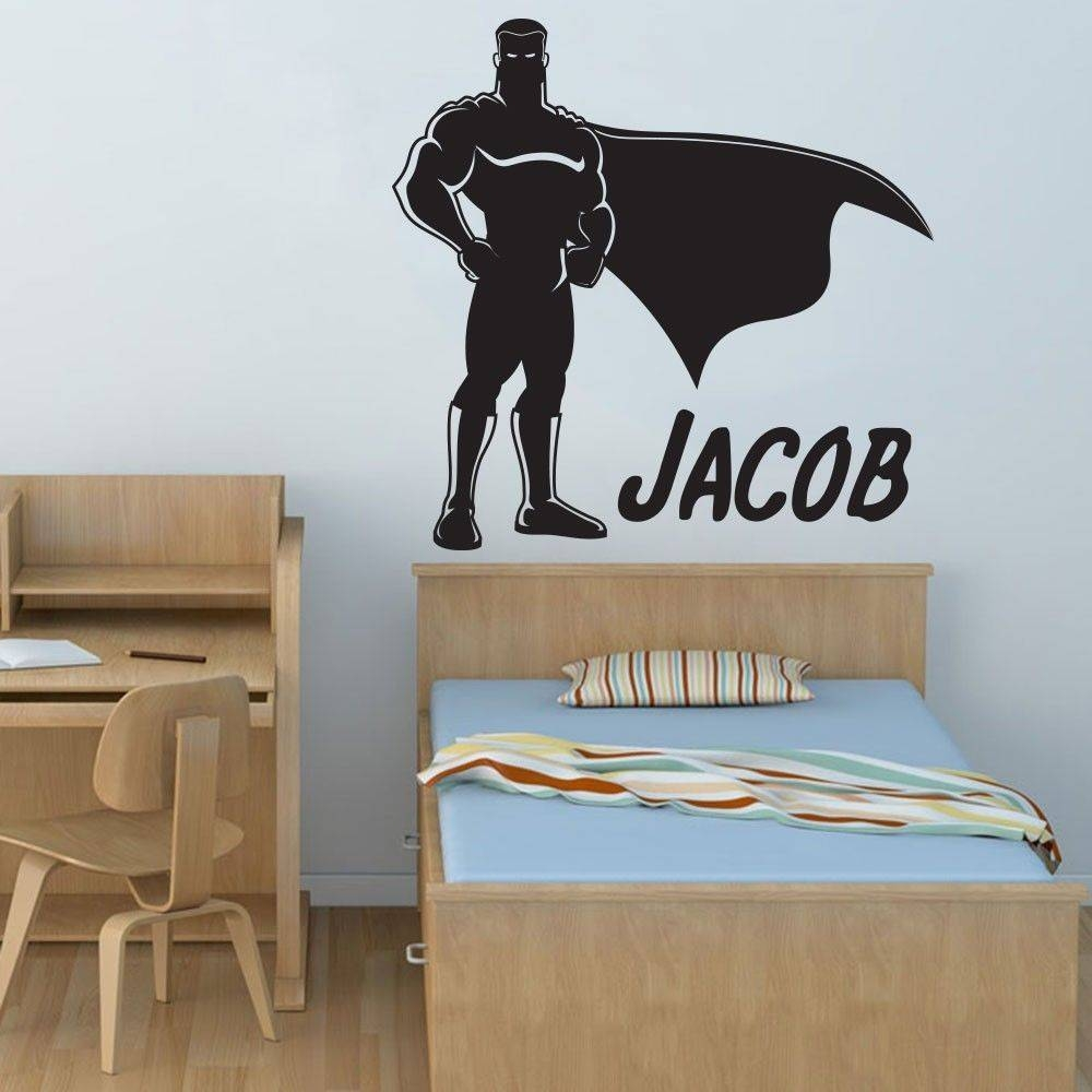 Movable Popular Boy Hero Superman Art Deco Wall Decals Vinyl With Recent Art Deco Wall Decals (View 2 of 20)