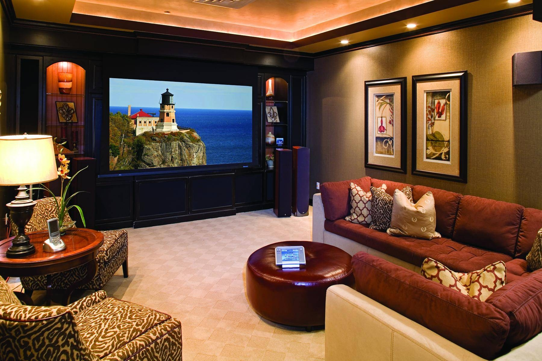 Movie Poster Wall Art Glass Coffee Table Basement Home Theater Intended For Most Popular Home Theater Wall Art (View 17 of 30)