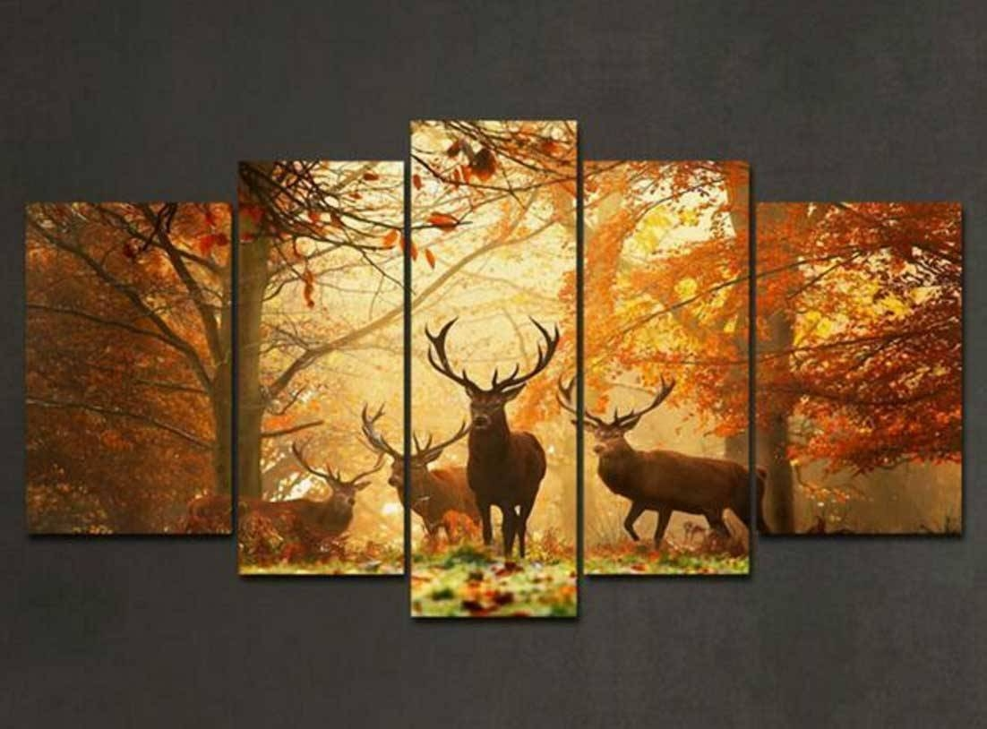 Multi Piece Canvas Wall Art With 5 Piece Wall Art | Home Interior Inside Newest Multiple Piece Canvas Wall Art (Gallery 6 of 25)