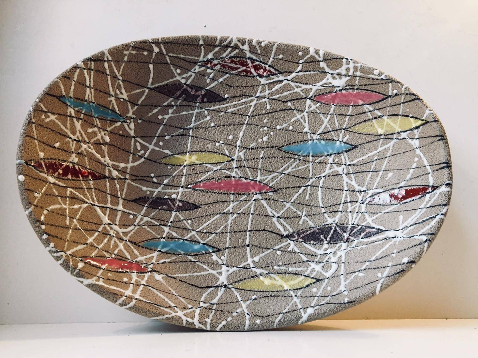 Multicolored Italian Modernist Ceramic Bowlfratelli Intended For Current Italian Ceramic Wall Art (Gallery 12 of 30)