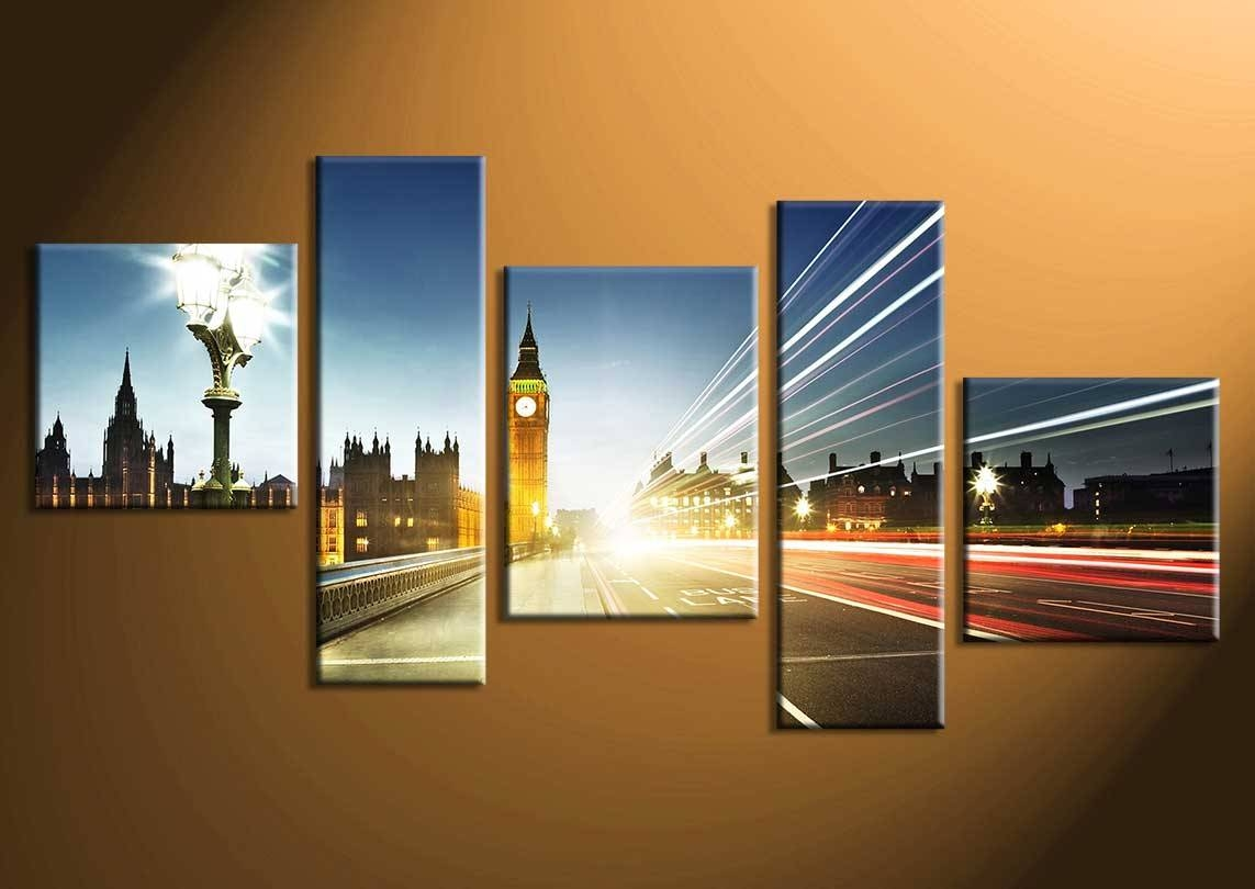 Multiple piece canvas wall art with 5 piece ideas home interior for newest multiple piece
