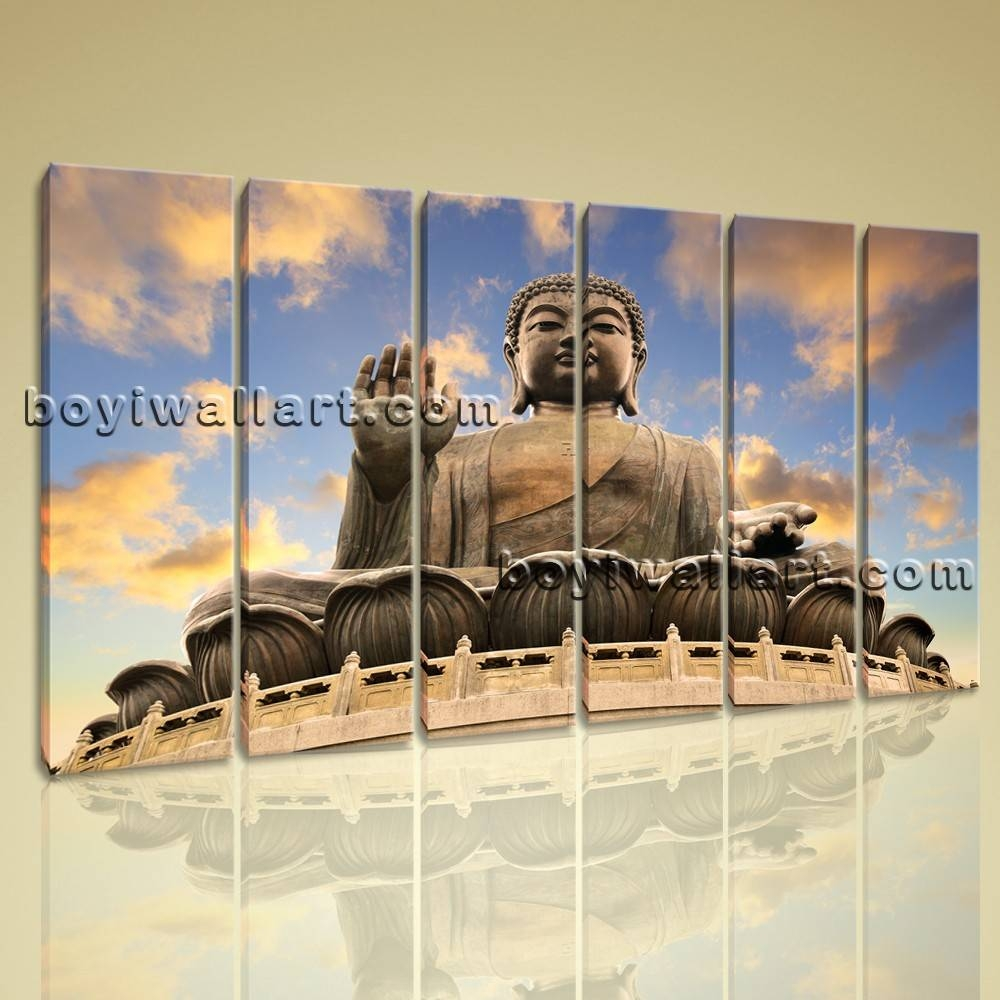 Multiple Pieces Home Room Decor Wall Art Print On Canvas Feng Shui Within Most Recently Released Wall Art Multiple Pieces (View 12 of 20)