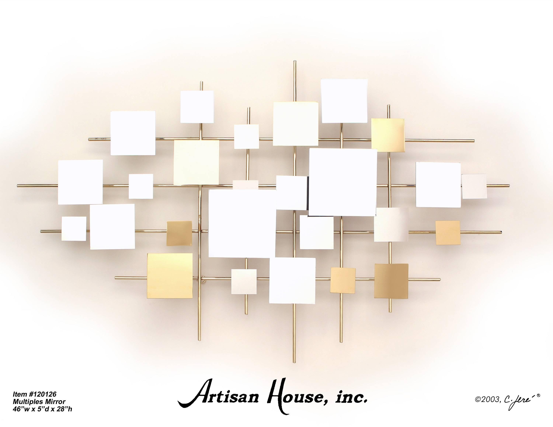 Multiples Mirror Brass Mirror Wall Art Artisan House Inspirations Throughout Recent Artisan House Metal Wall Art (View 9 of 20)