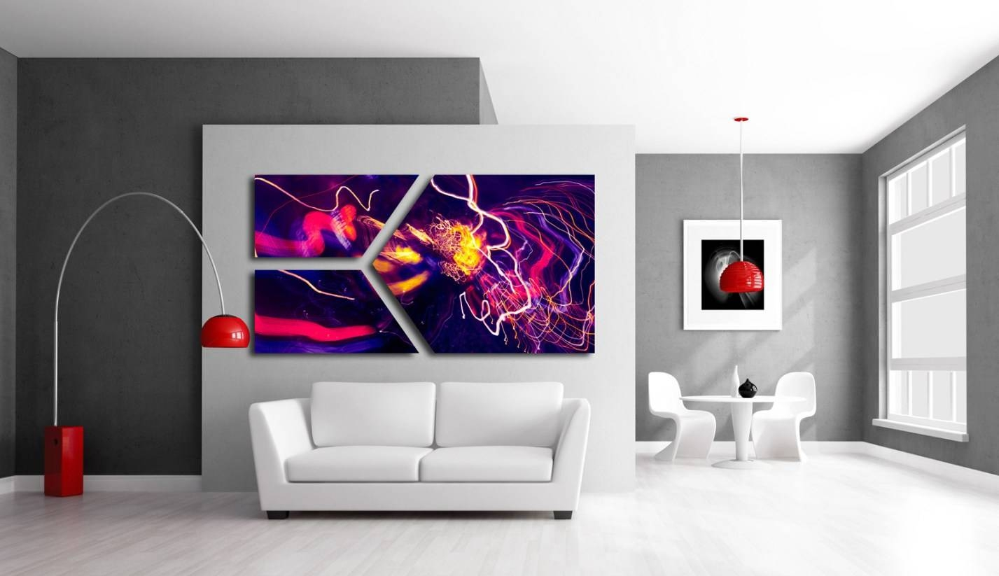 Mural : Abstract Wall Mural Important Abstract Wall Murals Cheap Inside Newest Unusual 3D Wall Art (View 13 of 20)
