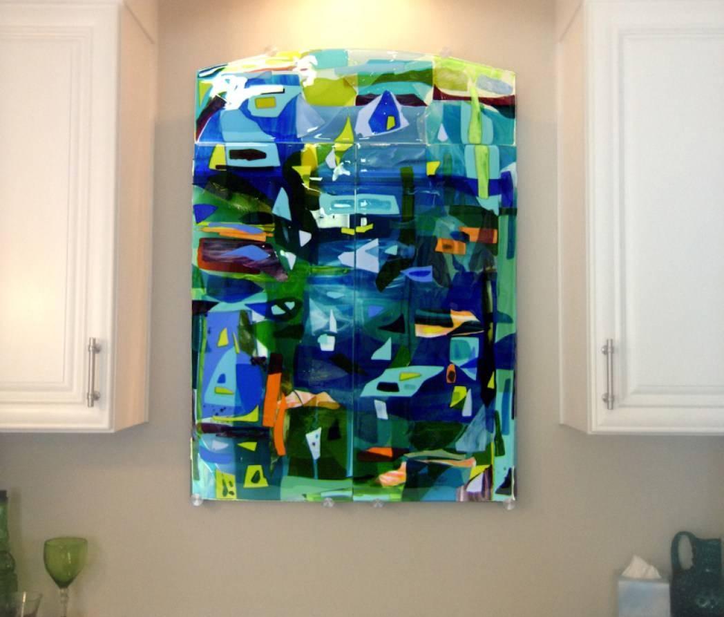 Mural : Beautiful Glass Mural Art Beautiful Modern Wall Art For For Most Recent 3D Glass Wall Art (View 16 of 20)