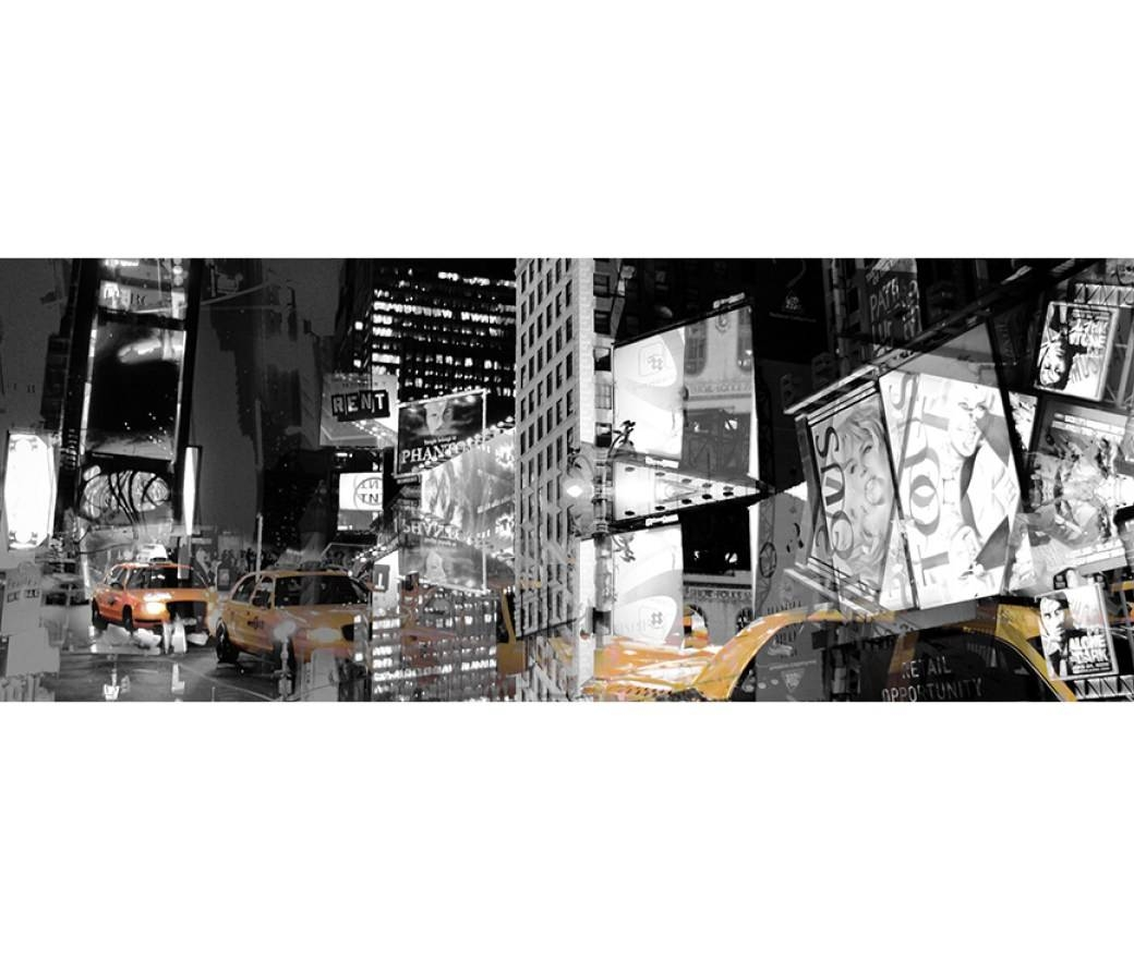 Mural : Black Silhouette New York Cityscape Wall Art Astonishing Within Recent New York City Wall Art (View 5 of 20)
