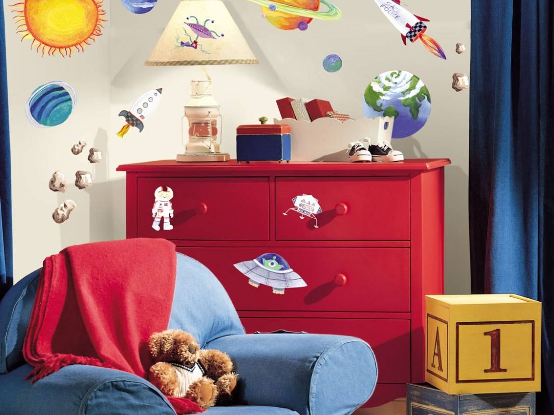 Mural : Outer Space Wall Mural Commendable Outer Space Wall Murals With Best And Newest Astronaut 3D Wall Art (View 14 of 20)