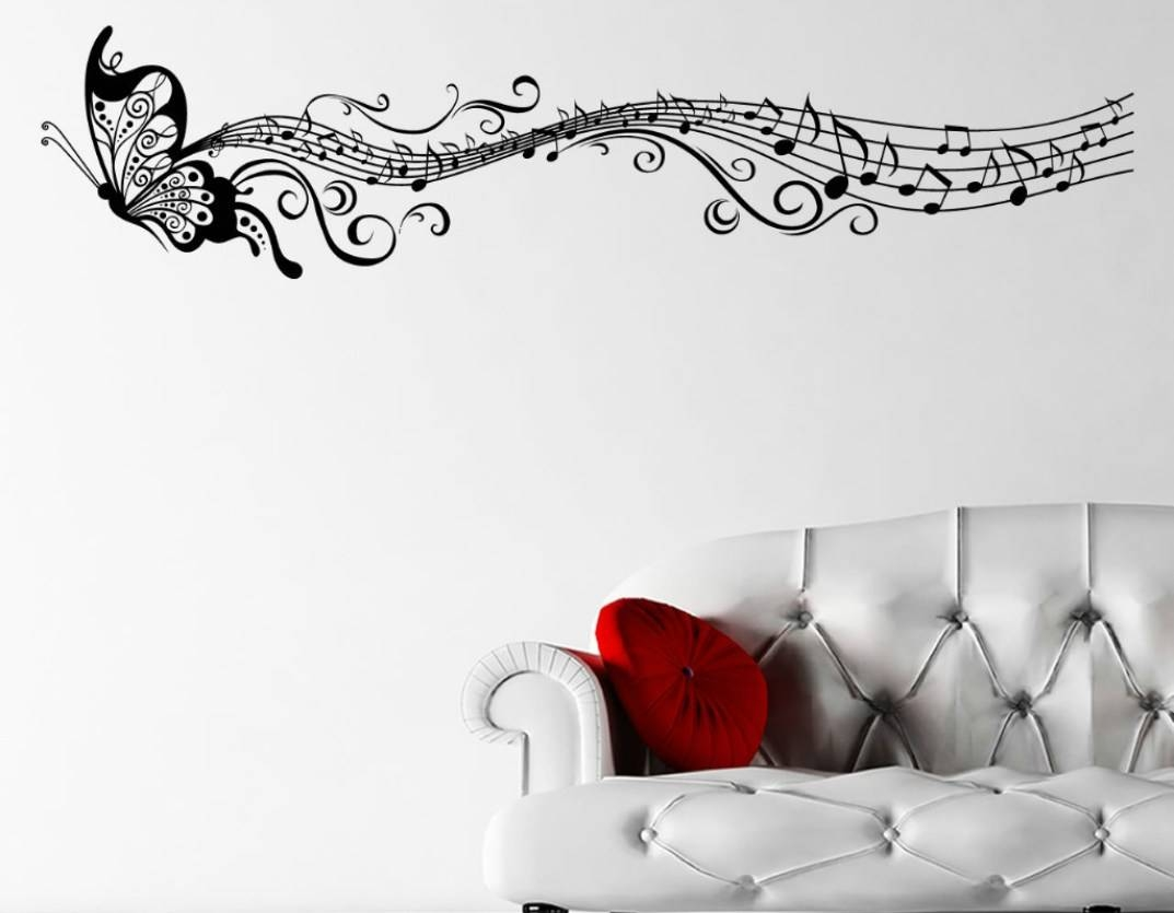 Mural : Superb Music Wall Decor Metal M Free Shipping Diy Music In Most Popular Music Themed Wall Art (View 13 of 25)
