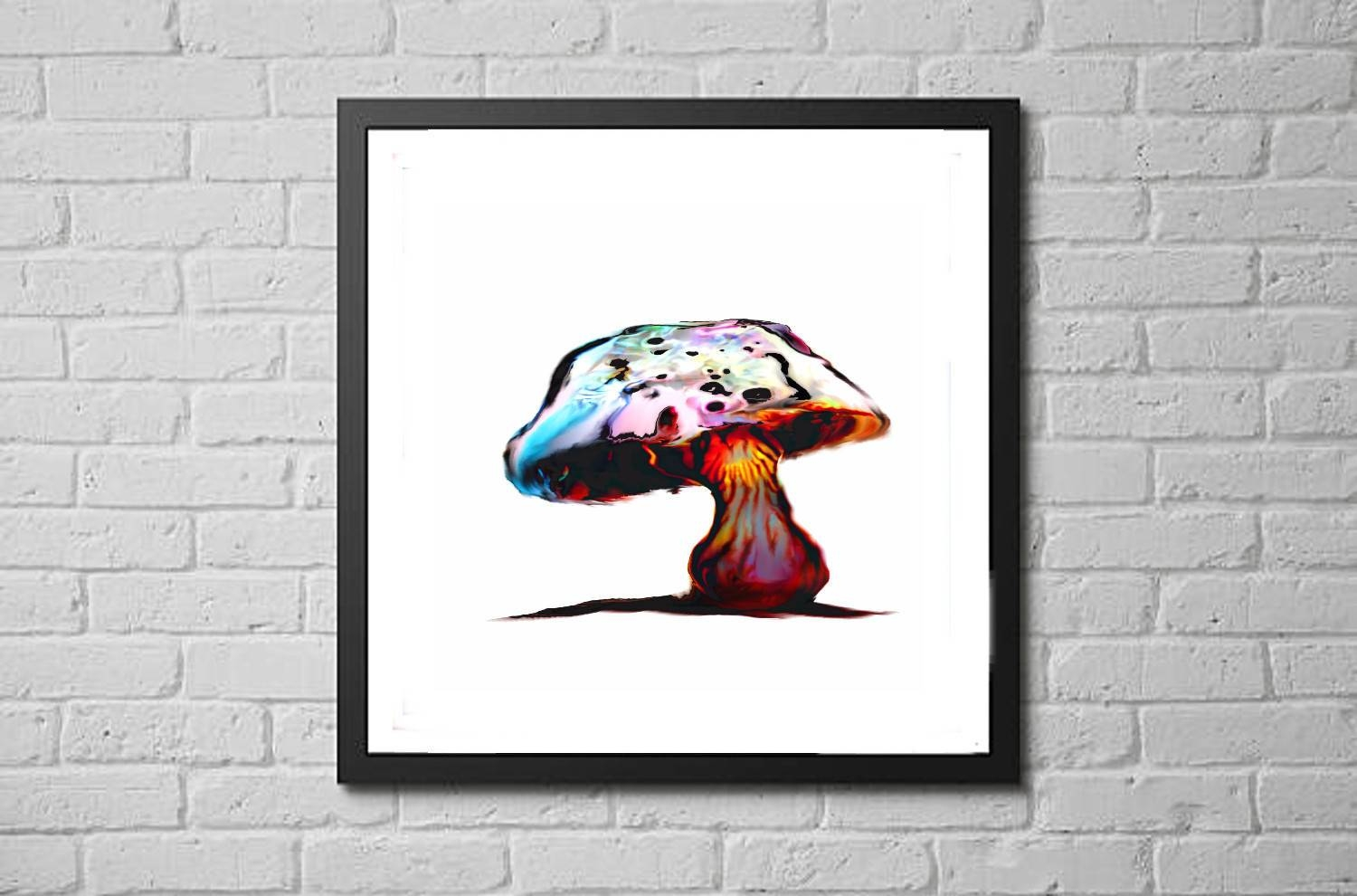 Mushroom Art Print / Nature Fungi Botanical Decor / Trippy Intended For Most Recently Released Mushroom Wall Art (View 12 of 20)