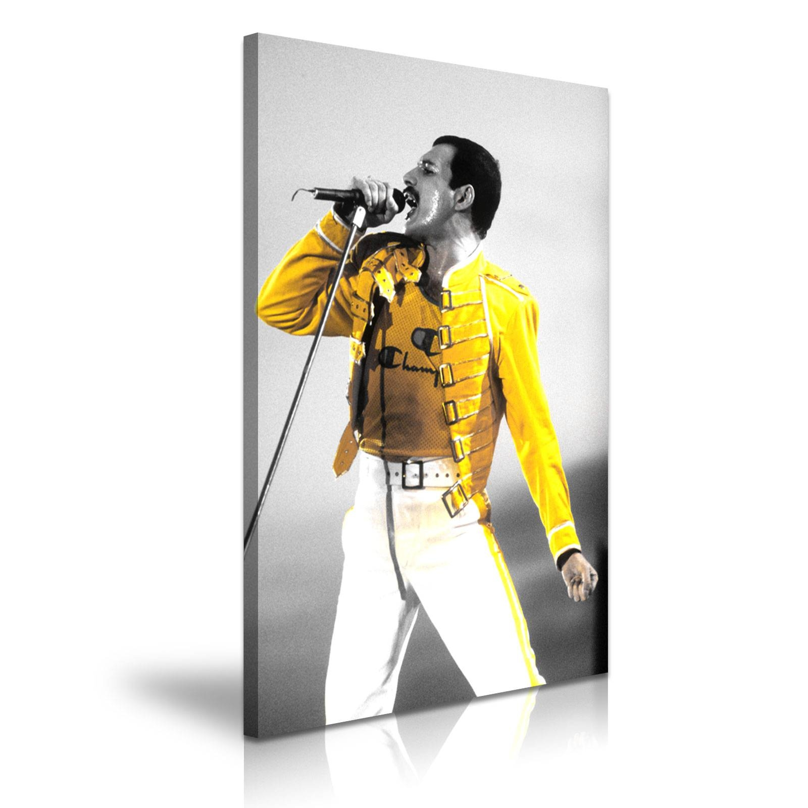 Music & Dance Freddie Mercury Queen Canvas Framed Print Wall Art Within Current Freddie Mercury Wall Art (View 15 of 15)