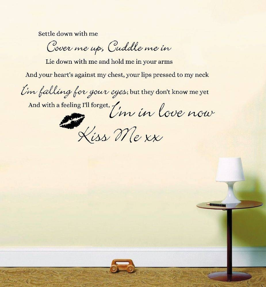 Music Lyrics Wall Art | Ebay Within Recent Music Lyrics Wall Art (View 13 of 20)