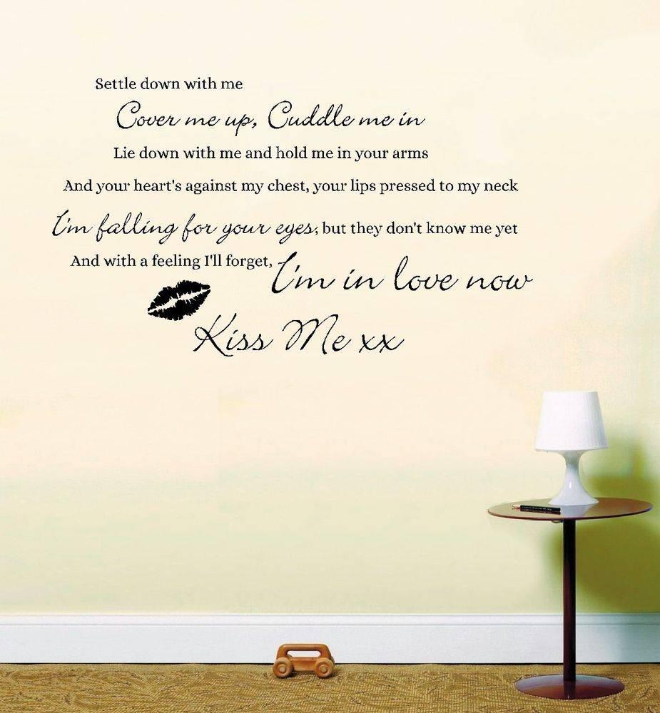 Music Lyrics Wall Art | Ebay Within Recent Music Lyrics Wall Art (View 6 of 20)