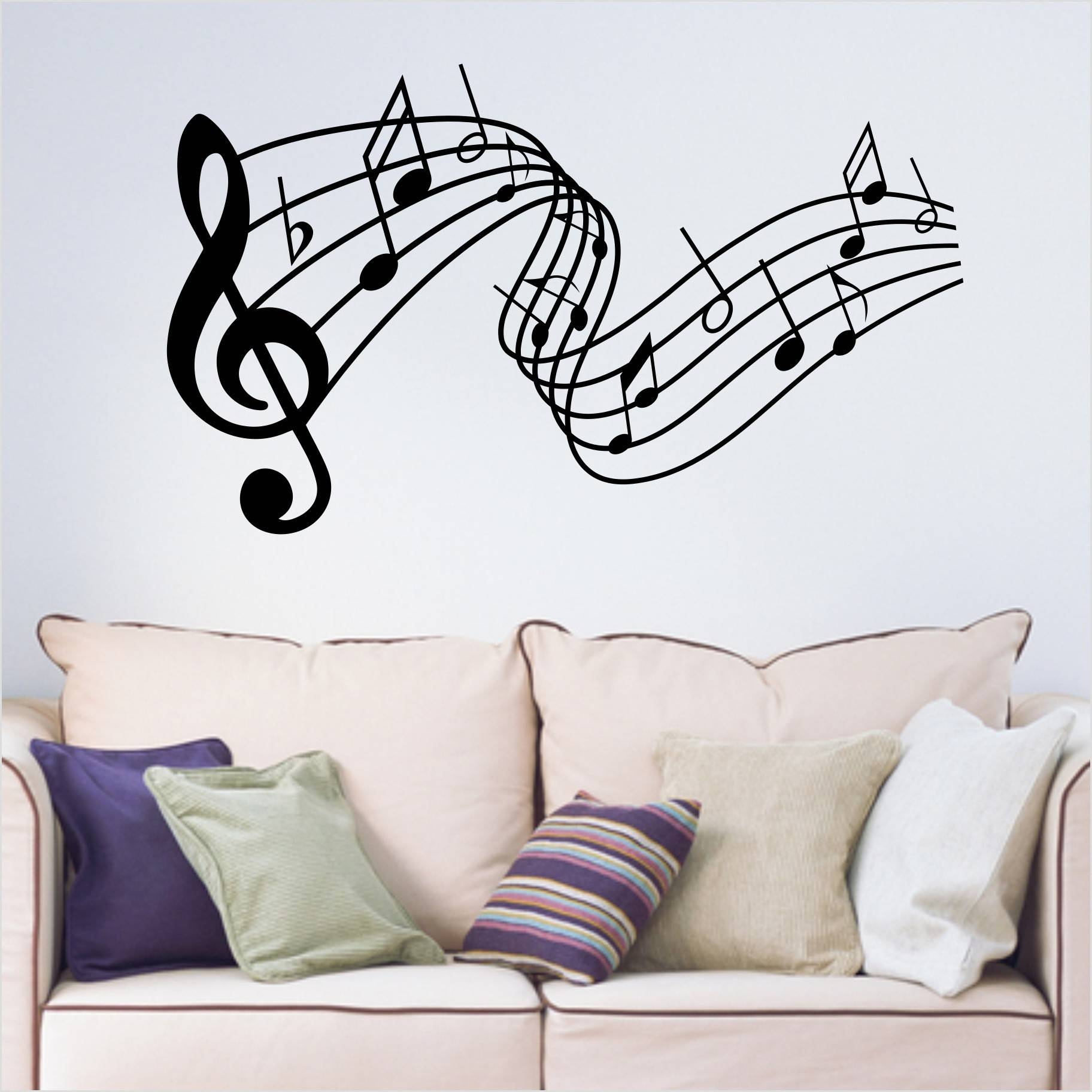 Music Notes Wall Art Decals Images That Really Cool – Desainnow With 2018 Music Note Wall Art (View 11 of 20)